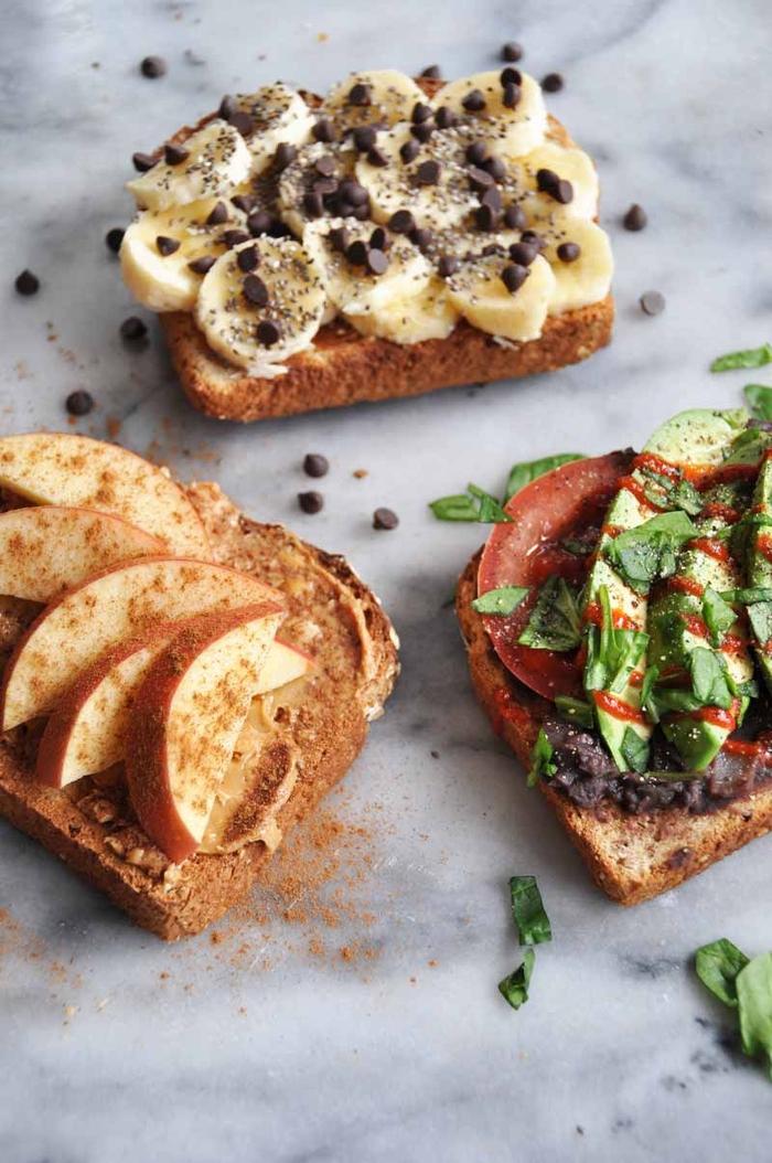 les petits déjeuner minceur à base de tartines à prendre sur le pouce, trois recettes de tartines épatantes en version minceur