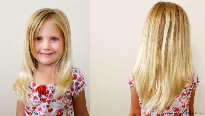 Coupe enfant fille coiffure petite fille mariage coupe carre enfant cheveux longs blonds idée coiffure