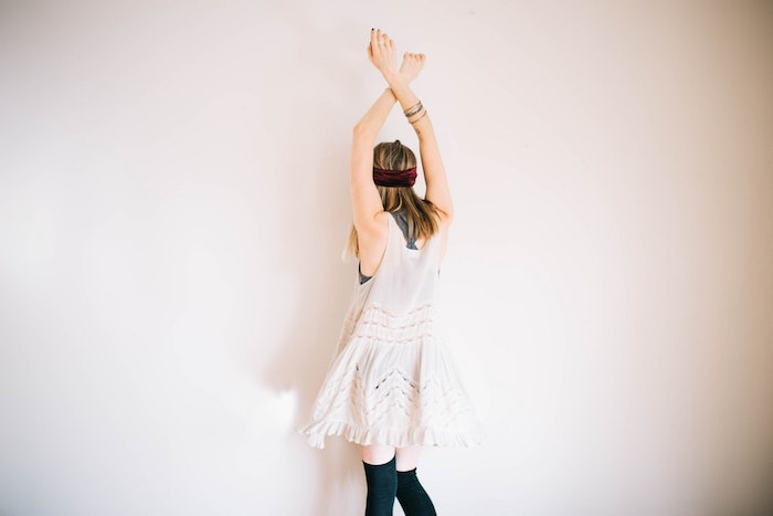 Tenue été femme robe cocktail blanche robe bohème chic dentelle photo robe