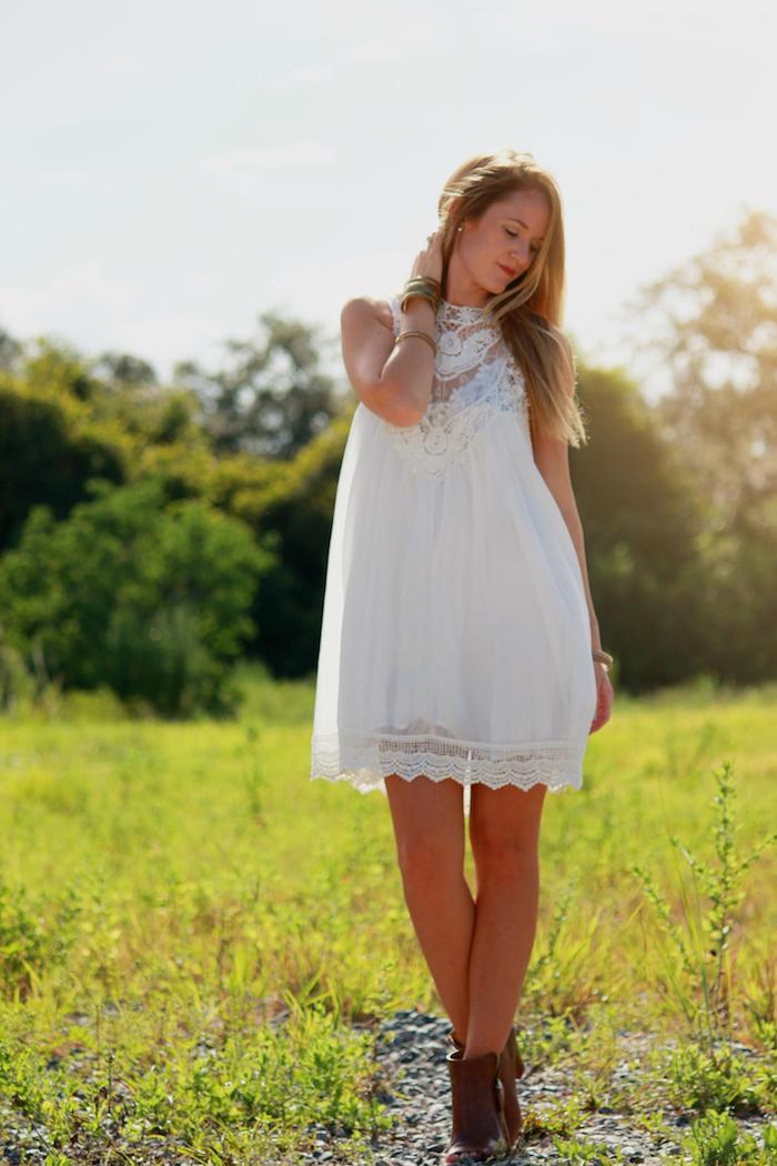 Quelle robe longue boheme blanche choisir une robe blanche boheme chic