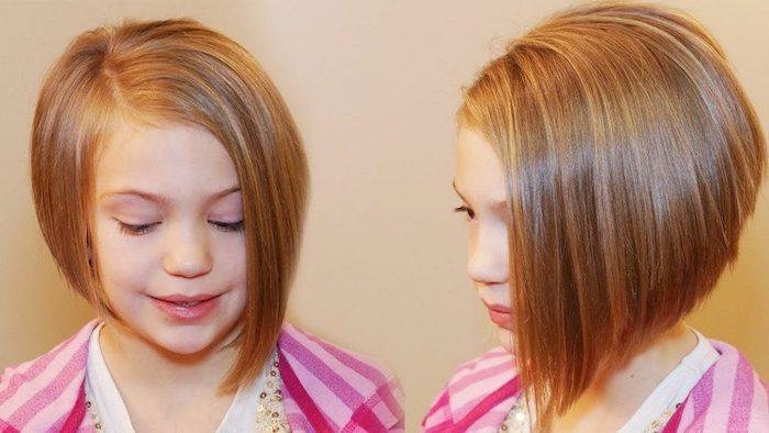 Coiffure facile et rapide coiffure petite fille cheveux court enfant fille mignonne carré coiffure simple