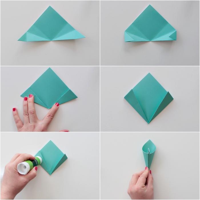 comment faire une fleur en papier en forme de pâquerette en suivant cette technique simple de pliage papier origami facile