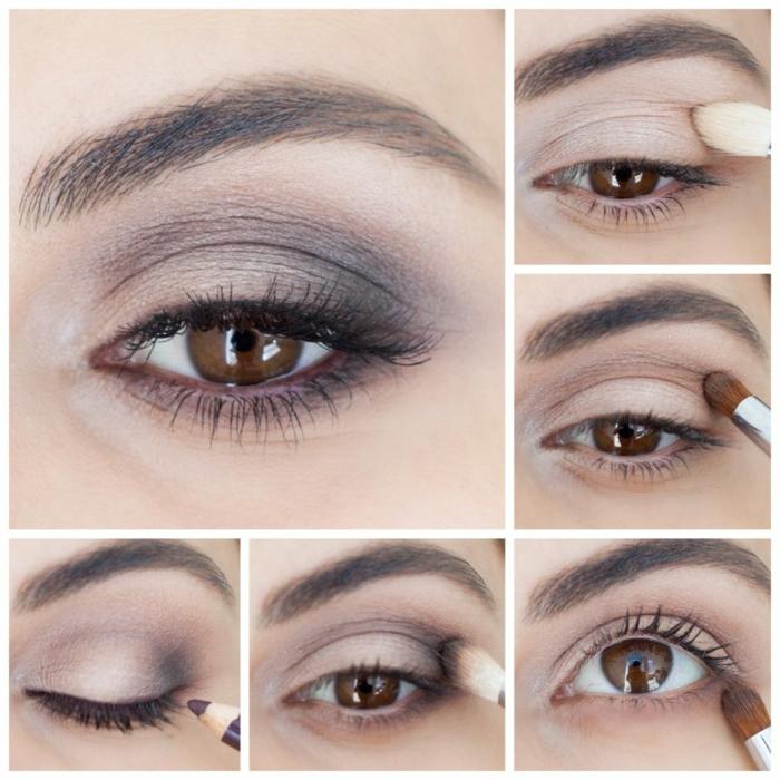 les étapes à suivre quand on se maquille les yeux, maquillage yeux lilas clair