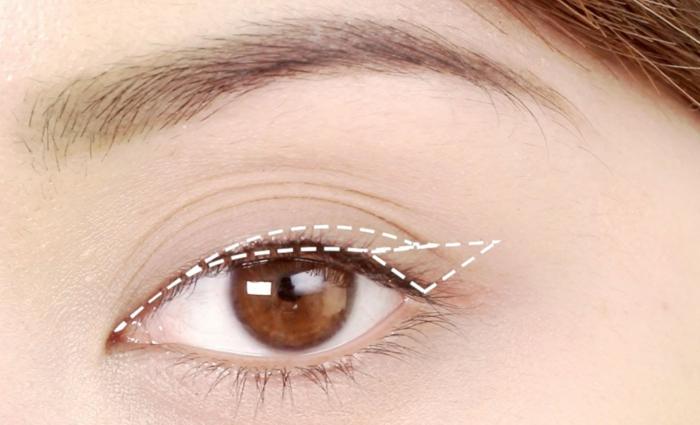 ligne d'eyeliner graphique, tuto maquillage yeux marron, réussir le maquillage léger