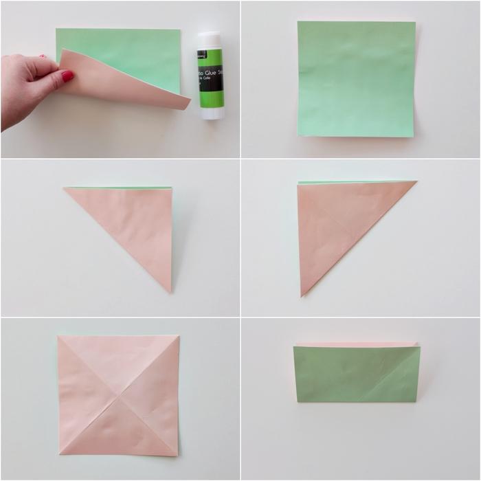 tuto origami facile avec toutes les explications détaillées illustrées pour réaliser un joli dahlia en origami en peu de temps