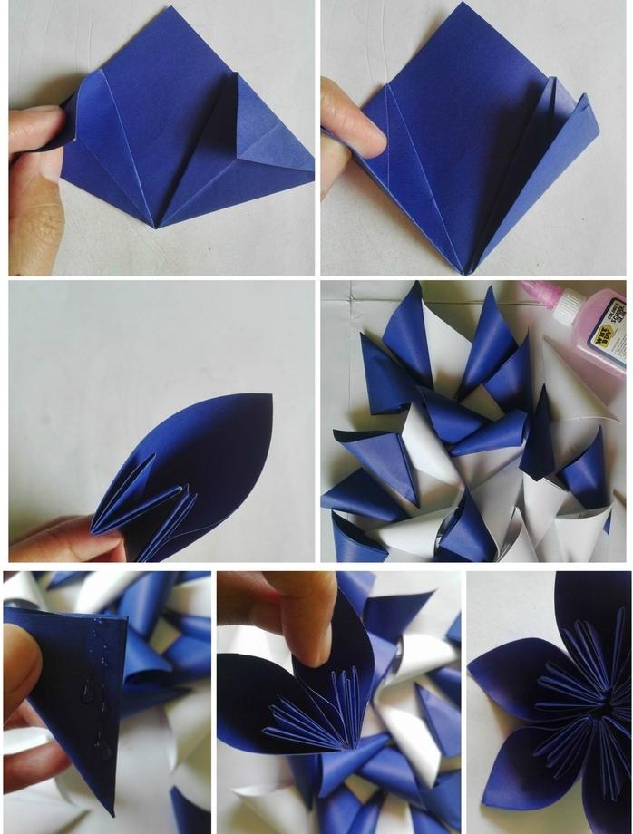un modèle d'origami facile fleur kusudama