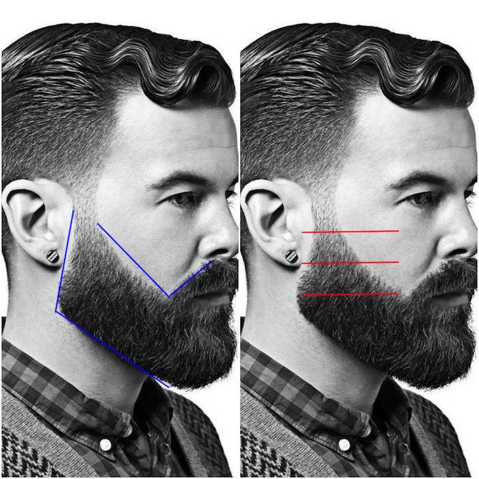 tutoriel pour tailler sa barbe en dégradé tout seul facilement avec tondeuse