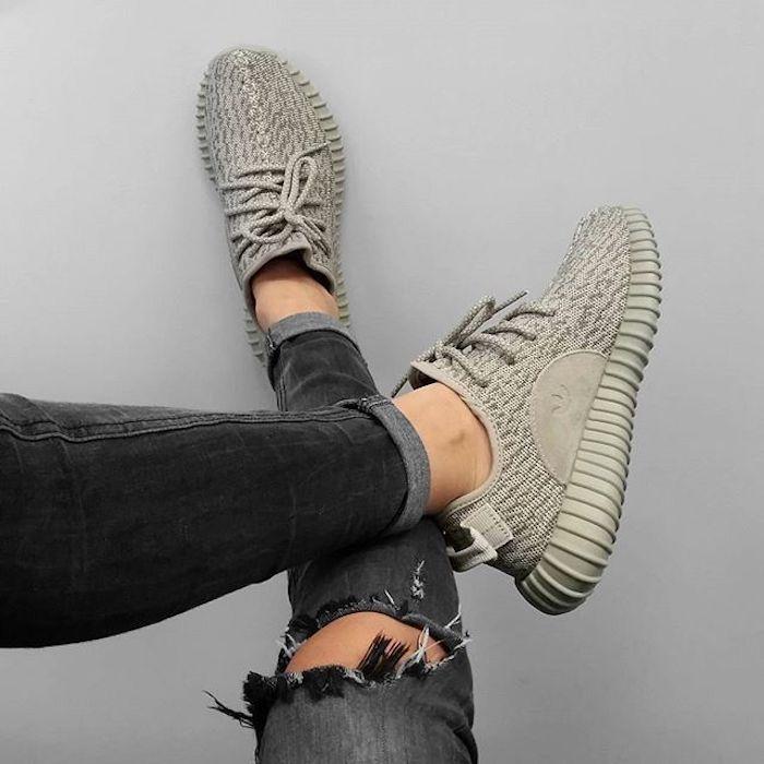 9f7b075eb746d Basket plateforme noir basket femme a la mode 2018 chaussures de marque  adidas basket moderne jean