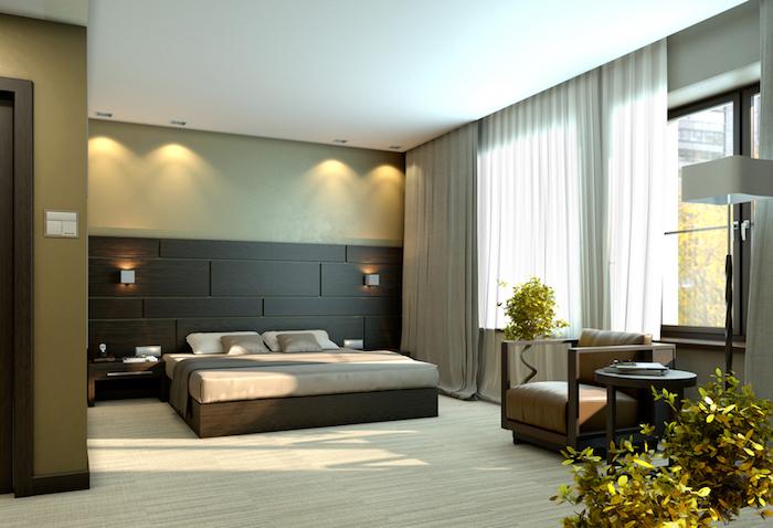 Chambre adulte complete moderne decorer sa chambre à coucher aménagement chambre taupe