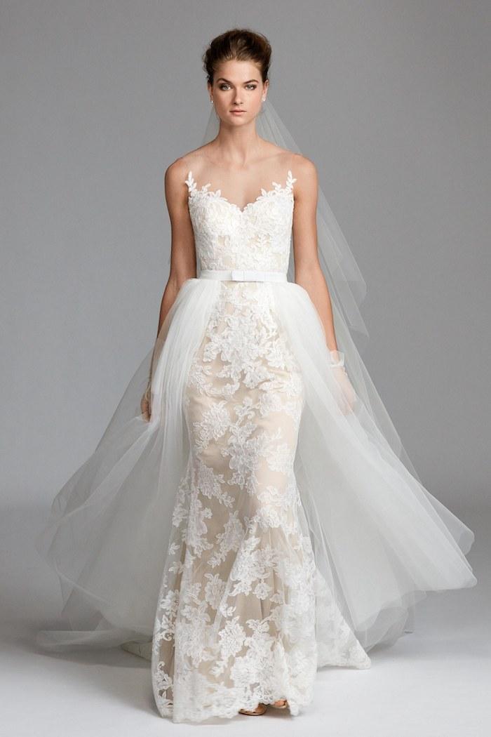La robe de mariée les plus belles robes choisir une robe d apres son silhouette coeur bustier originale style vera wang