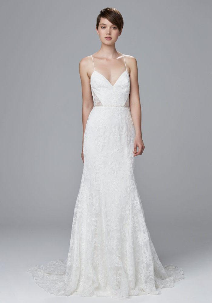 Robe de mariée dentelle robe pour mariage pas cher femme robe blanche photo de mariage cutouts sur les cotes