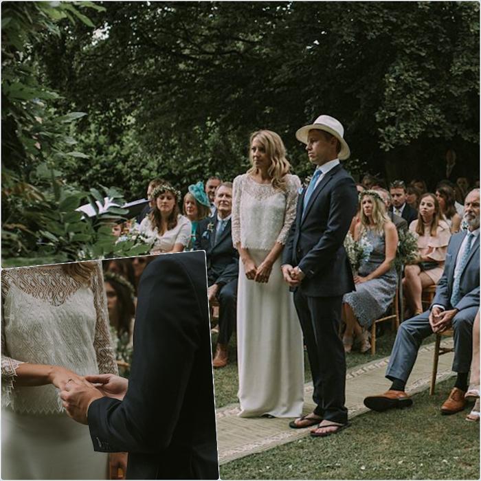 Magnifique robe de mariée champetre la robe longue de mariage elegante idée tenue robe blanche simple top dentelle vintage
