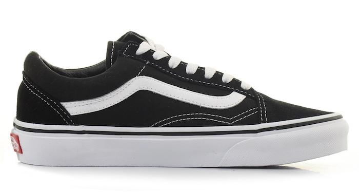 vans old skool noir et blanc basses comme chaussure pour homme a la mode