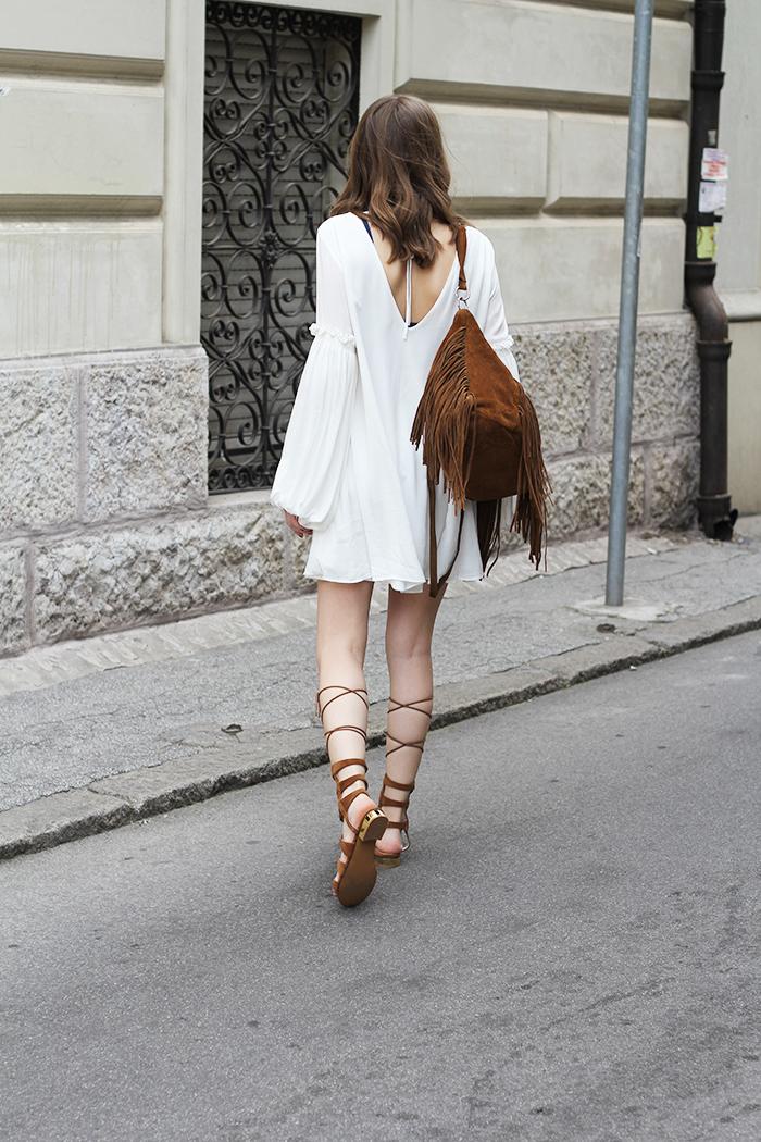 Robe blanche magnifique robe de soirée blanche choisir le style bohème chic