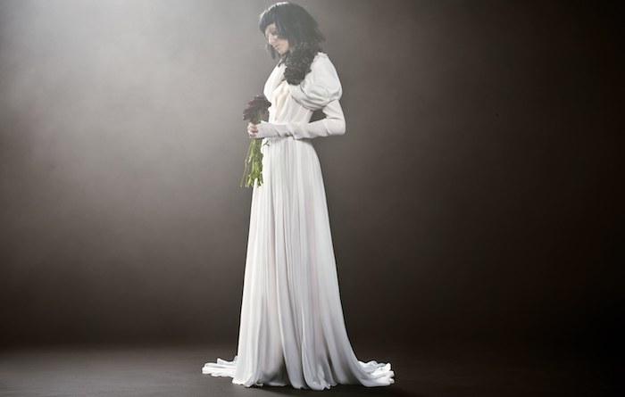Les plus belle robe de mariée robe de mariée champagne style boheme chic moderne manche extreme grosse