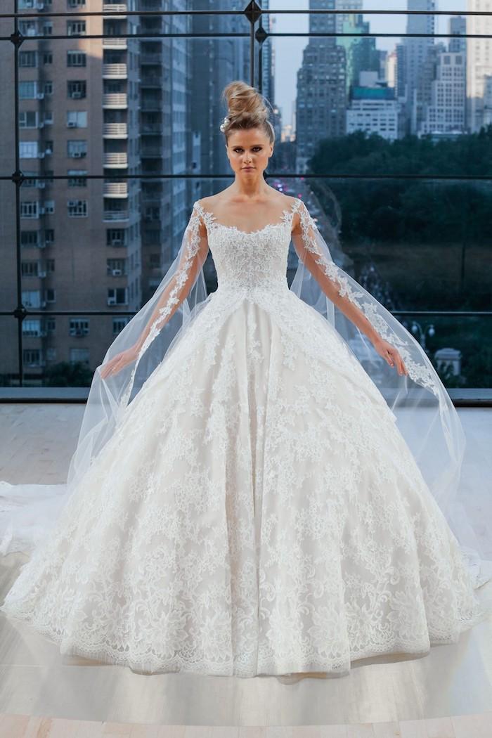 Robe de mariée magnifique longue en dentelle robes de maries image robe mariage chouette idée de robe
