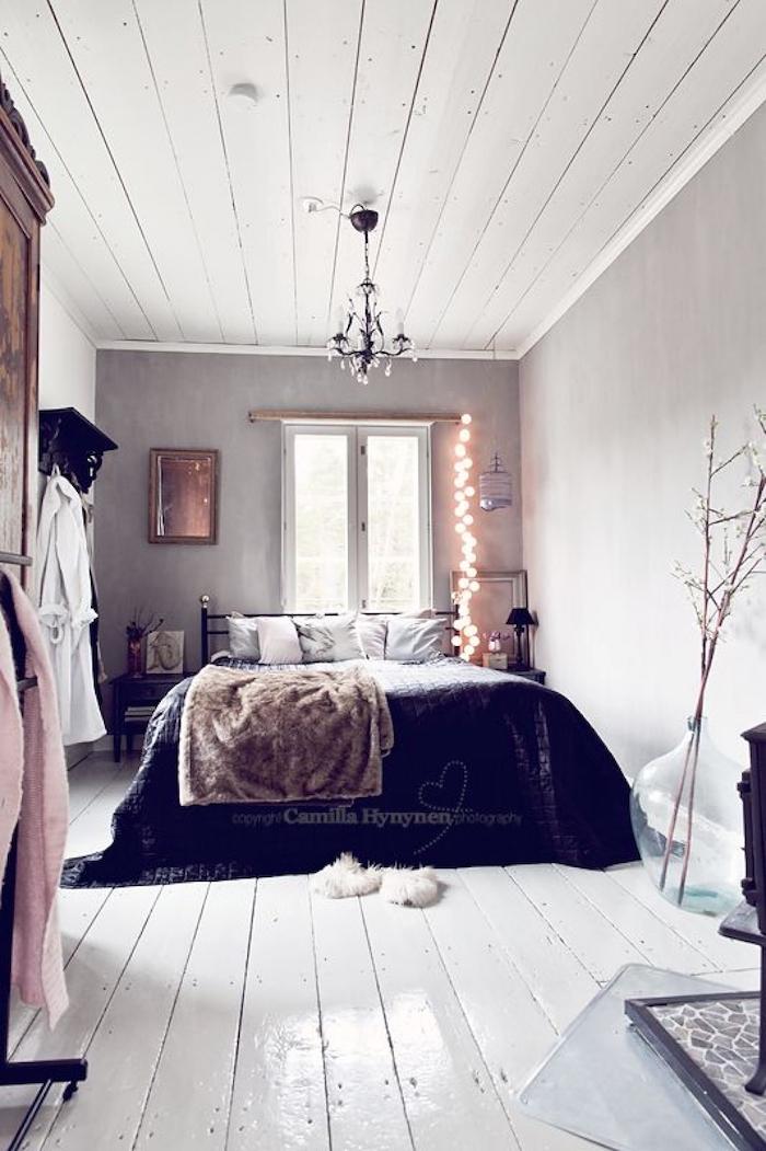 Appartement deco décoration d intérieur salon et salle de sejour cool idee chambre à coucher scandinave déco guirlande lumineuse