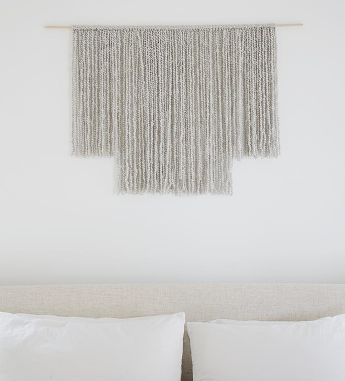 exemple tuto tissage laine pour dération murale facile en laine
