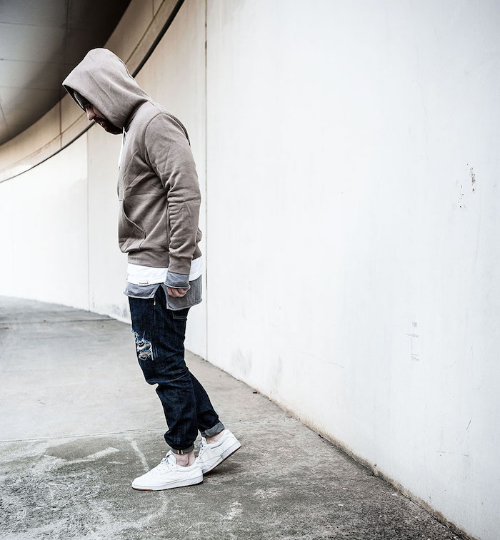 tendance sneakers rétro en cuir basse Reebok Club c85 en cuir blanc pour homme