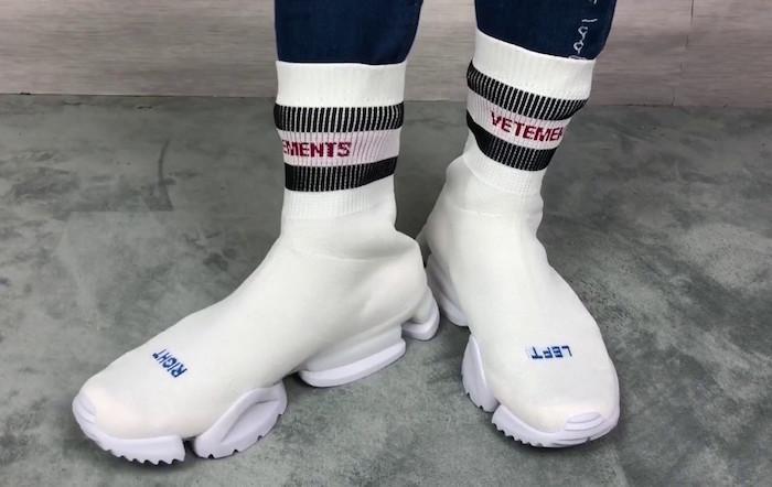 Vêtements X Reebok Sock Runner white comme basket a la mode 2018 homme tendance