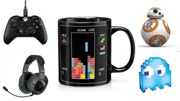 modèles d'accessoires et objets de périphérie PC à offrir à un père qui aime les jeux PC, modèle de mug noir à design jeux vidéos