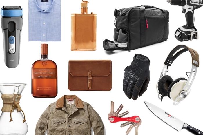 idees cadeaux fetes des peres avec accessoires et vêtements fashion ou outils et objets pour homme bricoleur