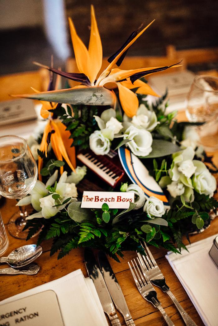 Marque place thématique table mariage décoration de table mariage élégant déco diy inspirée par un film