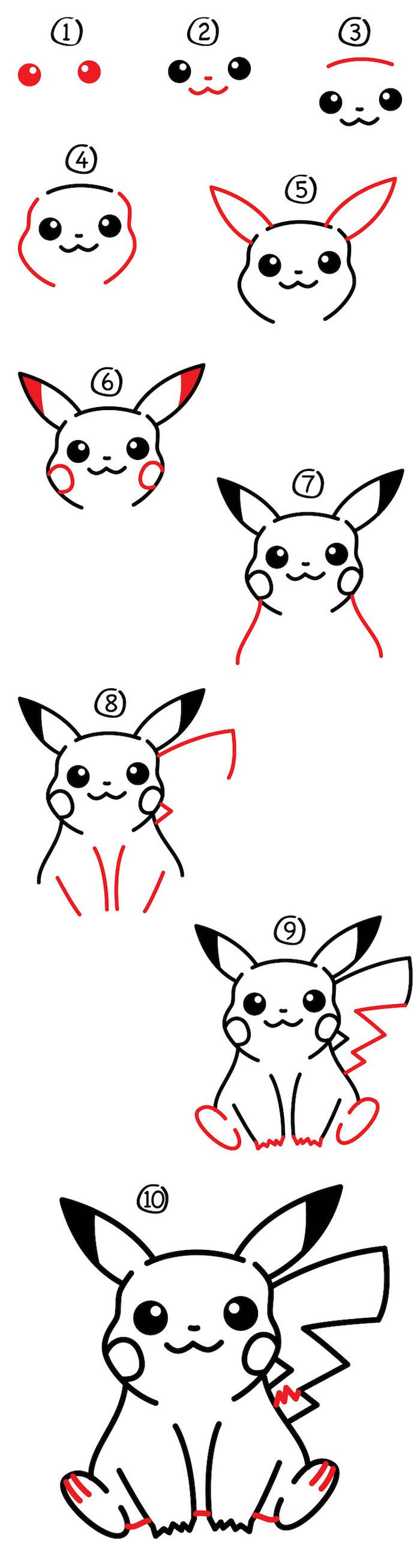 Comment dessiner un chien idée dessin de chien facile image dessin mignon pikachu dessin pas à pas