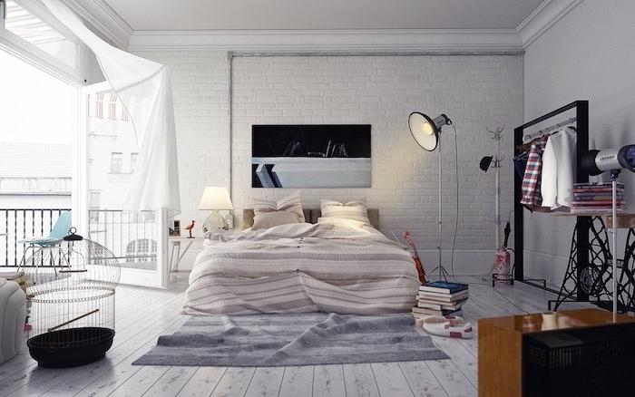 Décoration appartement étudiant idée déco appartement deco appartement chambre à coucher scandinave déco mur industrielle