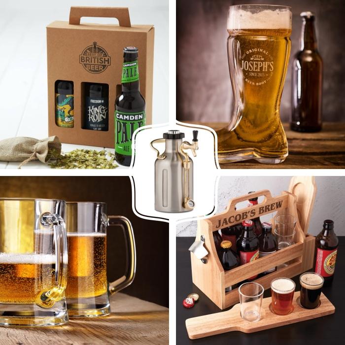 comment choisir un cadeau fete des peres original, surprise à design bière avec une box ou un verre géant