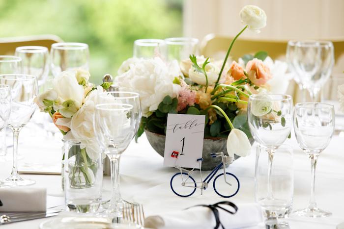 Deco de table mariage décoration de table mariage cool idée mariage photo marque table original idée déco petit bicyclette
