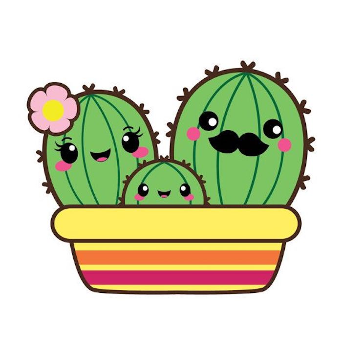 Kiwi dessin ou glace kawaii dessin etape par etape cool idee art sympatique dessin cactuses famille adorable