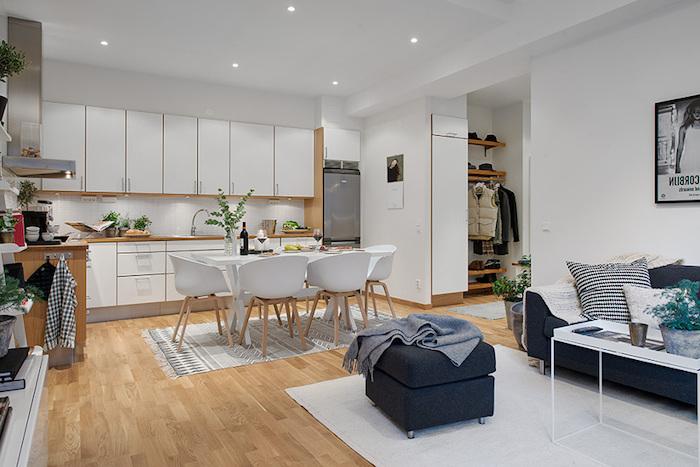 Salon sejour idée déco salon moderne idée couleur salon bien aménagé cuisine ouverte au salon et salle à manger idée déco moderne