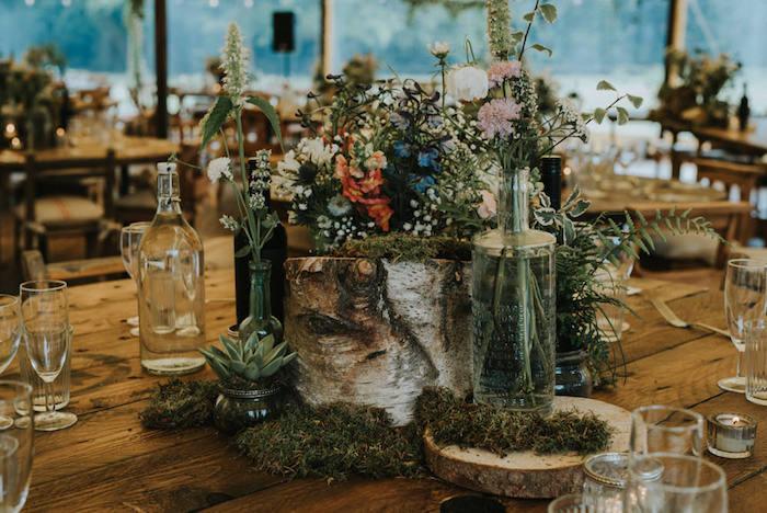 Décoration de table mariage centre de table mariage original menu mariage décoration cérémonie laique