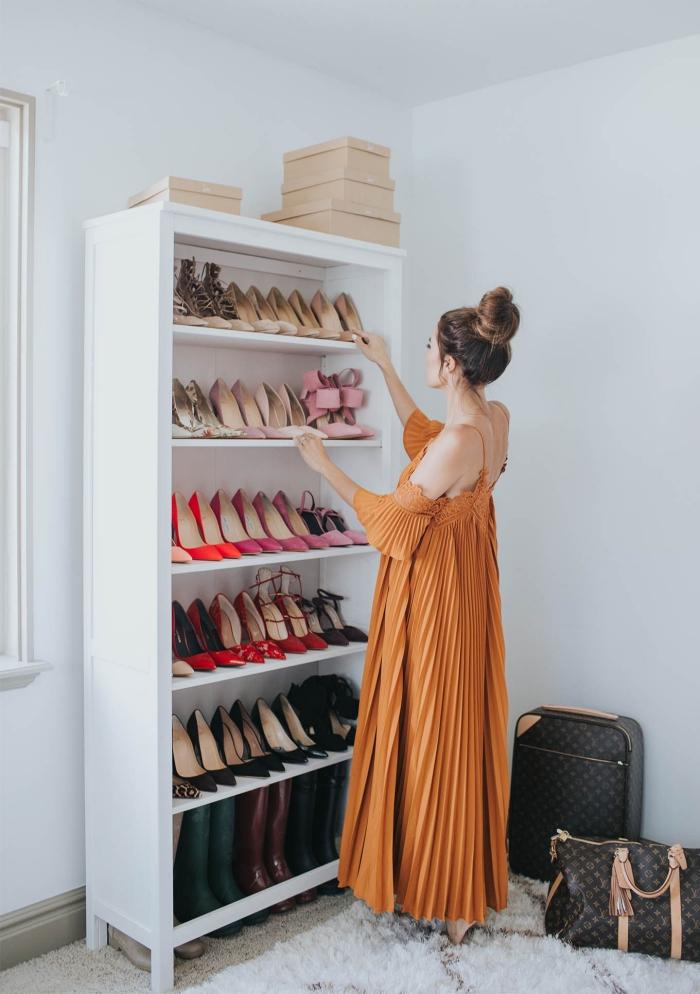 comment organiser sa collection de chaussures, une etagere chaussure pratique à six niveaux qui permet d'avoir toujours à sa portée sa paire de chaussure favorite