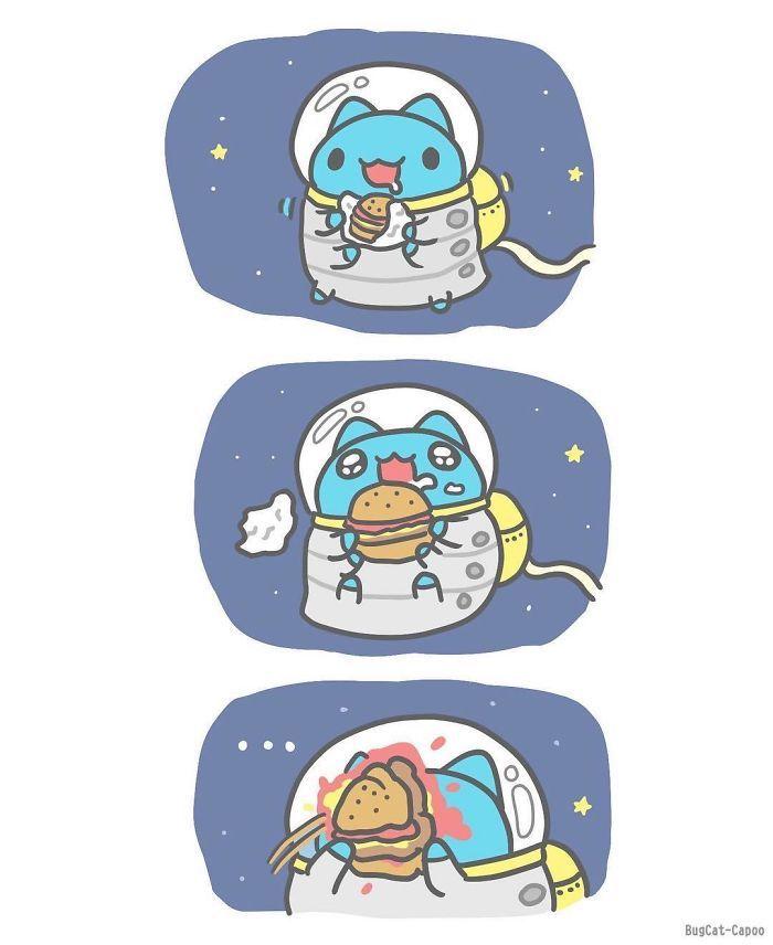 Modele dessin facile comment faire des dessins art design mignon art animation chat astronaute