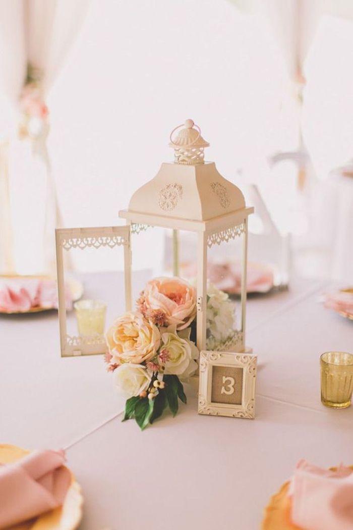Centre de table mariage menu mariage célébrer le jour j comment décorer jolie déco romantique