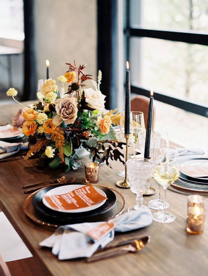 Mariage pas cher automne décoration menu mariage comment décorer la table de mariage déco