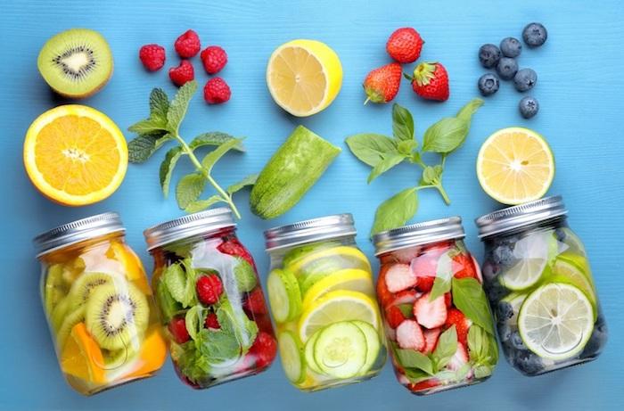 Eau detox citron boisson detox concombre boisson detox efficace cool différentes saveurs choisir son favori