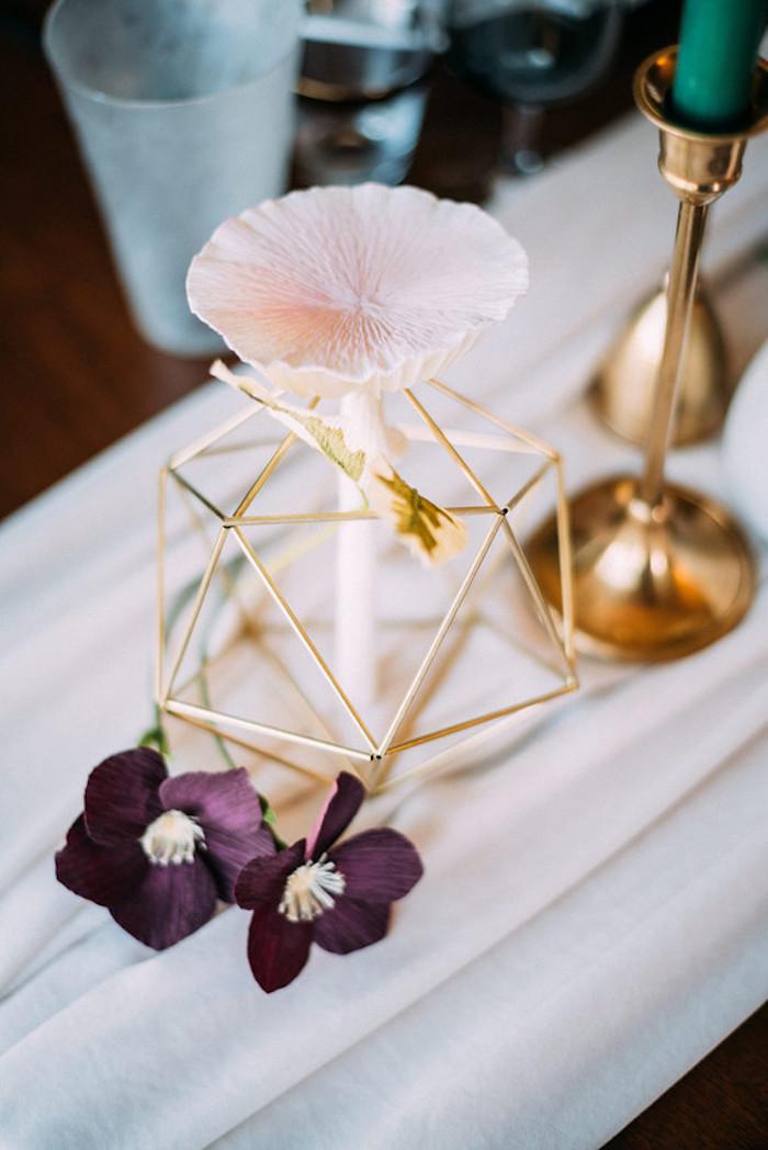 Pinterest mariage menu mariage originale déco géométrique idée élégant mariage déco table centre