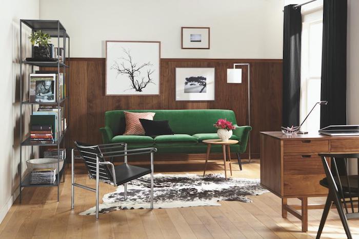 Idée déco studio aménagement petit studio moderne idee decoration d appartement rétro salon