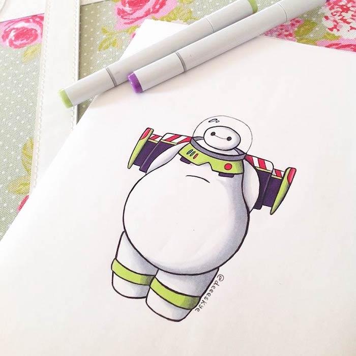 Petit dessin mignon quel dessin choisir à faire mignon Baymax adorable dessin animé