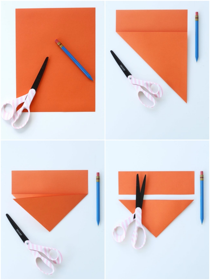 comment faire une cocotte en papier, les étapes du pliage facile d'une cocotte origami traditionnelle