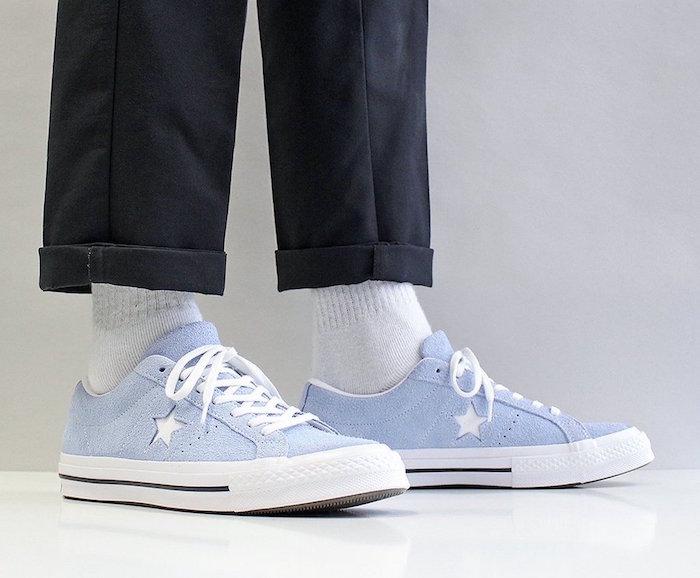 Converse One Star Ox bleu ciel sky light blue comme basket 2018 homme