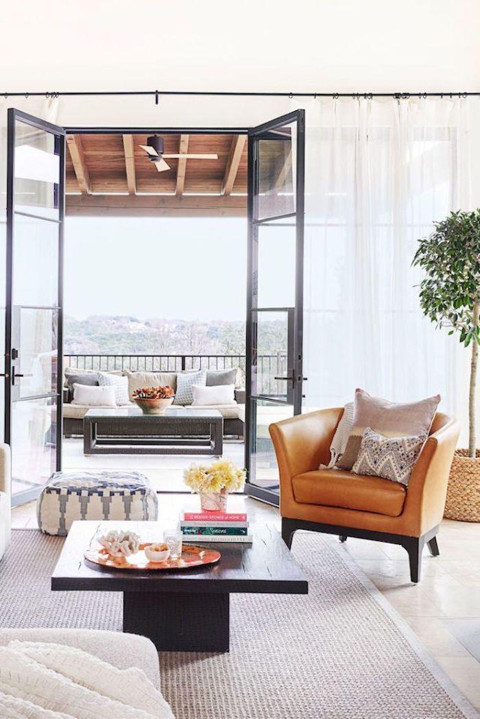Appartement design idée déco studio appartement deco stylee grand balcon et salon