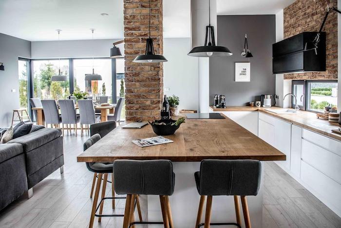 Comment amenager salon salle a manger rectangulaire idée déco salon moderne style industriel une pièce pour salon salle à manger et cuisine