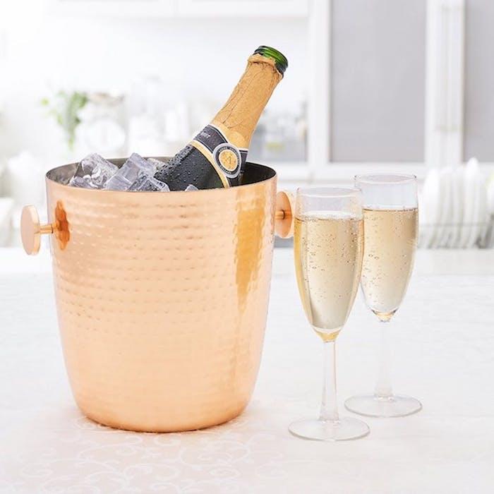 Un cadeau pendaison de crémaillère cadeau pour crémaillère housewarming cadeau champagne bucket en cuivre