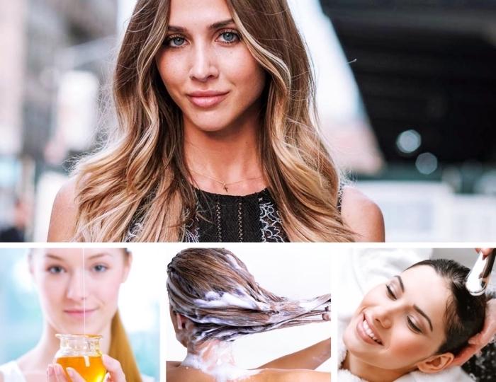 faire une masque de décoloration avec miel, comment donner des reflets plus clairs aux cheveux châtain foncé