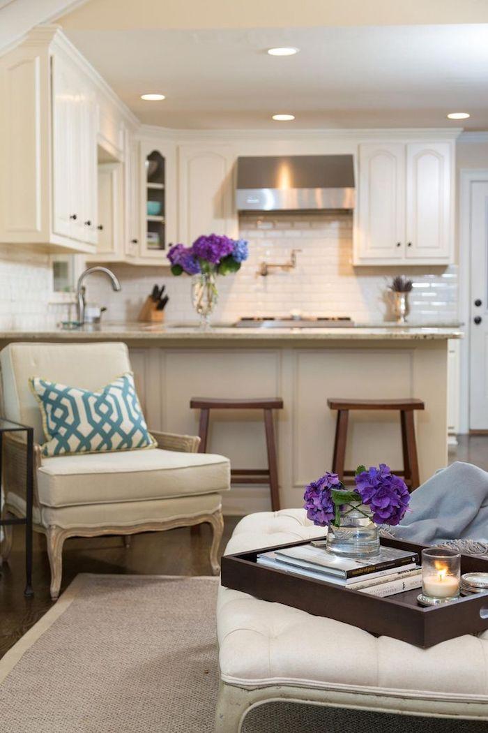 Aménagement studio 30m2 appartement design idee decoration cosy belle cuisine et salon