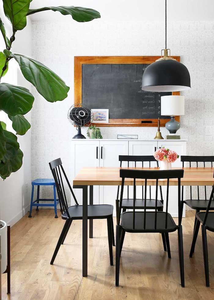 Couleur de peinture pour salon salle a manger idee deco peinture salon grande plante verte